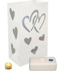 lumabase set of 12 hearts battery operated led luminaria kit