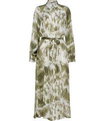 fade marbelle dress knälång klänning grön bruuns bazaar