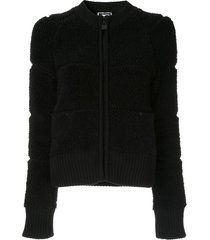 chanel pre-owned textured zipped jacket - black