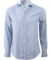 check spread collar shirt