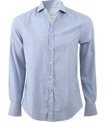 check spread collar shirt