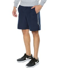 pantaloneta azul under armour woven graphic