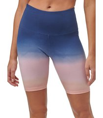 marc new york performance women's ombre high-rise biker shorts - midnight combo - size s