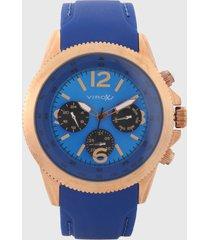 reloj azul-cobre virox