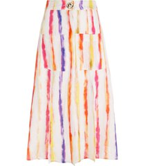 nicholas tie dye mid-length skirt - white