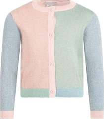 stella mccartney kids multicolor cardigan for babygirl with butterfly