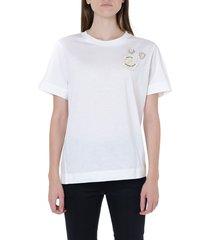 moncler genius embellished white cotton t-shirt