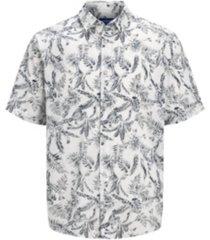 men all over printed short sleeve shirt