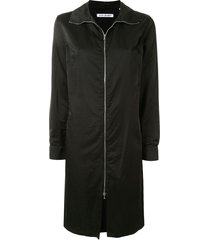 our legacy zip-up sweater dress - black