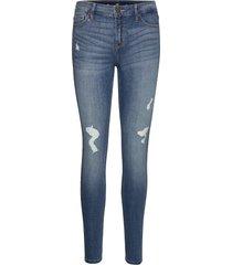 medium rise super skinny skinny jeans blå hollister