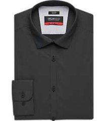 awearness kenneth cole awear-tech black mini dot slim fit dress shirt
