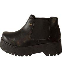 botineta  negra rosevelt shoes elena