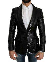 sequin shiny slim blazer