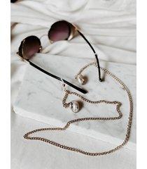 łańcuszek do okularów z muszlami naturalnymi
