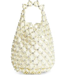 simone rocha small beaded shopper bag - white