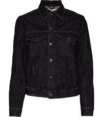 lmc boyfriend trucker lmc midn jeansjack denimjack zwart levi's made & crafted