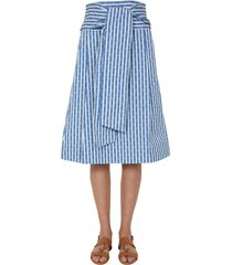 tory burch striped skirt
