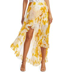 adelle ruffle high-low skirt