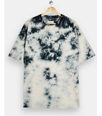 mens multi black and ecru tie dye t-shirt