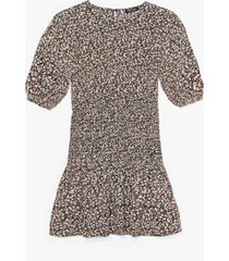 womens ready for the afterglow floral mini dress - black
