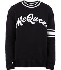 alexander mcqueen branded sweater