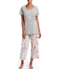 hue women's keep the faith t-shirt & capri pants pajama set