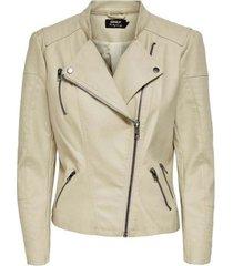 leren jas only chaqueta look de piel mujer 15102997