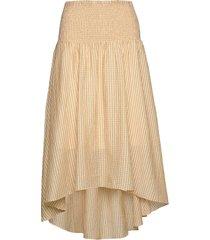 midi skirt with smocked waist knälång kjol silver designers, remix