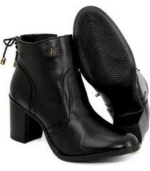 bota coturno couro lisa zíper salto médio casual de griffe feminina