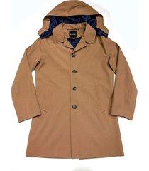 campera marrón  prototype tostado  mc coat capucha