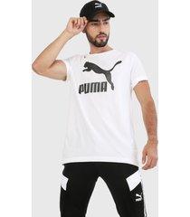 camiseta blanco-negro puma classics