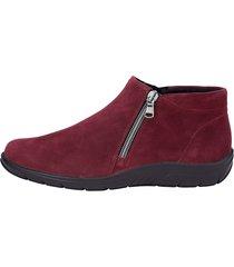 skor med dragkedjor naturläufer röd
