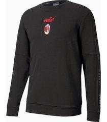 ac milan ftblculture voetbalsweater ii voor heren, rood/zwart, maat xs | puma