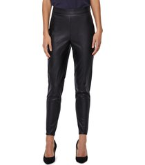 women's vero moda janni faux leather leggings, size large - black