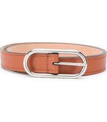 acne studios slim leather belt - brown