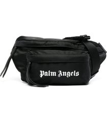 palm angels essential logo belt bag - black