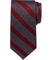 joseph abboud burgundy stripe narrow tie