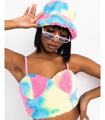 akira warms my heart sherpa bucket hat