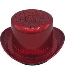 sombrero en forma de altavoz inalámbrico soporte de tarjeta sombrero vaquero estéreo inalámbrico de altavoces rojo