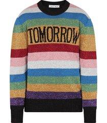 alberta ferretti multicolor sweater with black writing for girl