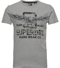 desert classic tee t-shirts short-sleeved grå superdry