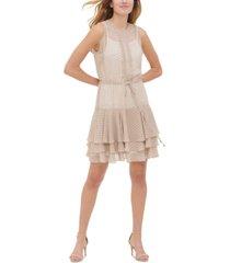 tommy hilfiger bayview dot-print chiffon dress