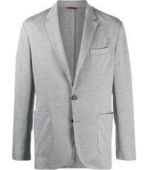 brunello cucinelli relaxed cotton blazer - grey