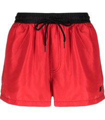 gcds two-tone swim shorts - red