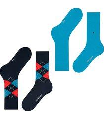 burlington socks everyday 2-pack men socks   blue multi   21044-6692
