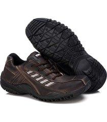 sapatenis couro tchwm shoes masculino design moderno dia dia marrom - marrom - masculino - dafiti