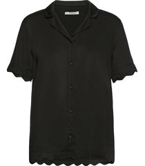 jane short shirt blouses short-sleeved svart underprotection