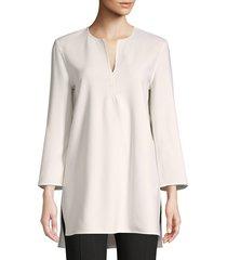 lafayette 148 new york women's singer wool-blend blouse - cloud - size xs
