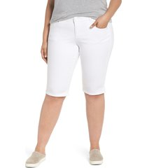 wit & wisdom ab-solution bermuda shorts, size 14w in optic white at nordstrom