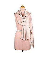 viscose blend scarf, 'bisque passion' (india)